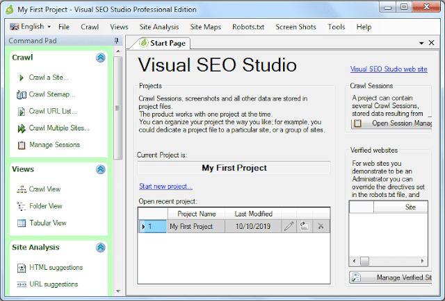 Screenshot Visual SEO Studio 1.9.9.9 Full Version