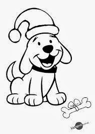 Christmas Puppy Coloring Pages 4