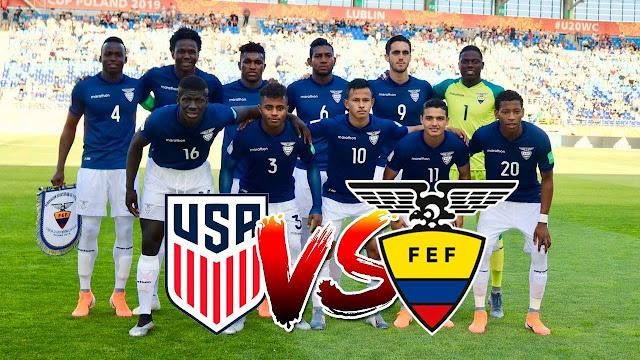 horario del partido Ecuador vs USA