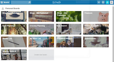 #happygeek Trello Organizational Sample - Authentic in My Skin