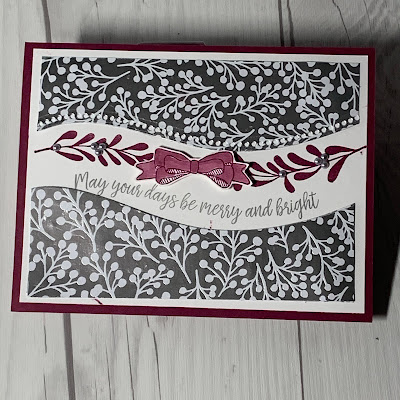 Silver Foil Christmas Card using Curvy Christmas Stamp Set from Stampin' Up!