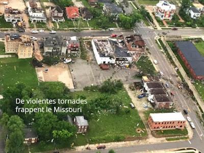 De violentes tornades frappent le Missouri