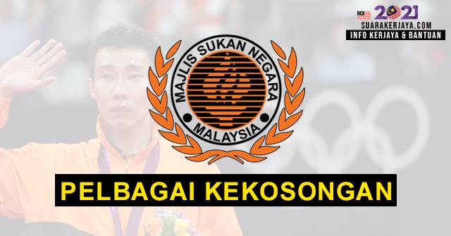 Majlis Sukan Negara (MSN) Buka Pengambilan Pelbagai Kekosongan Jawatan Terkini Ambilan 2021 ~ Mohon Sekarang!