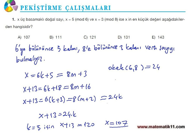 11. Sınıf Matematik Nova Yayınları Ders Kitabı 96. Sayfa İleri Düzey Çözümleri