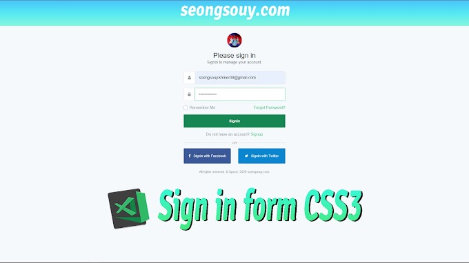 How to design form sign in using CSS3
