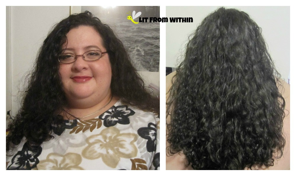 my hair after using the Pura d'or hair therapy system
