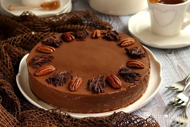 Csokoládés körtekrémtorta