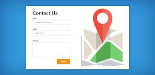 Cara mudah membuat menu Layanan Contact Us simple dan keren di Blogger