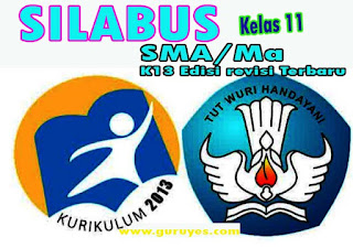 Silabus Bahasa Indonesia K13 Kelas 11 SMA/MA/SMK Semester 1 dan 2 Edisi Revisi 2020