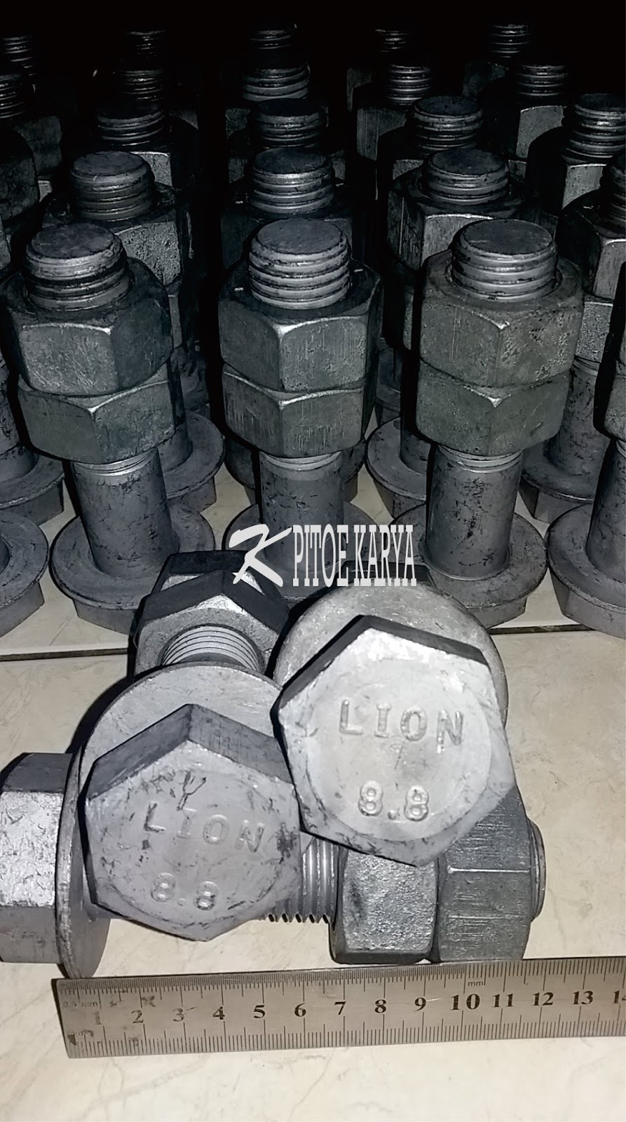 Hot Dip Galvanize High Tensile Strenght Bolt and Nut