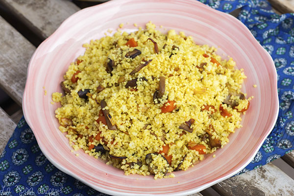 Cous-cous con verduras #vegetariano #vegano #saludable #ligero