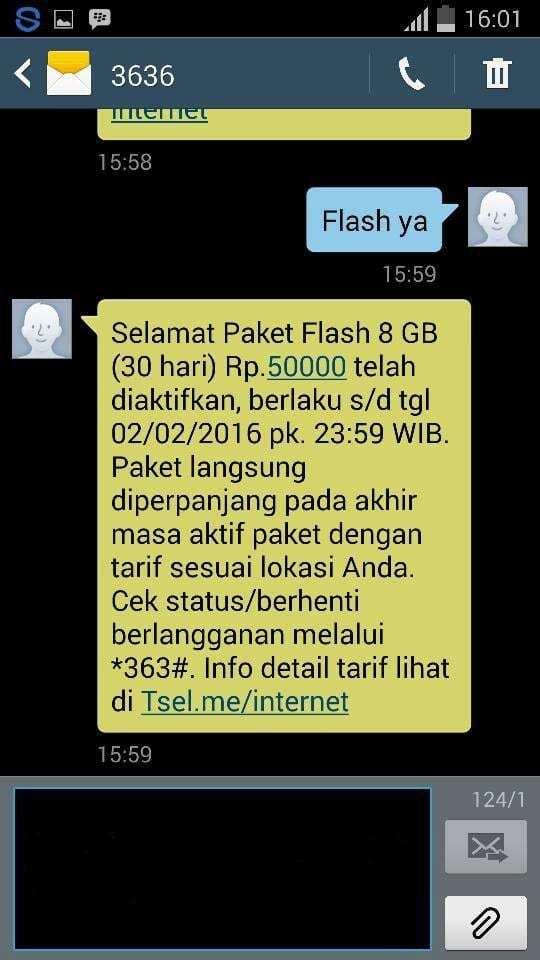 Paket Internet Telkomsel 8GB Rp 50 Ribu