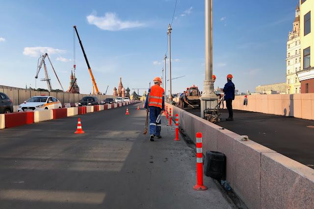 реконструируемый Большой Москворецкий мост | reconstruction of the Bolshoi Moskvoretsky bridge