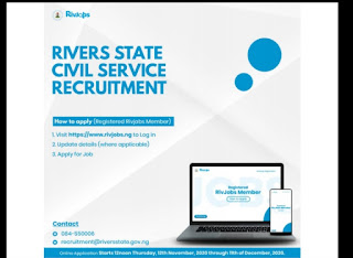 Rivers State 5000 Jobs For already registered Rivjobs users