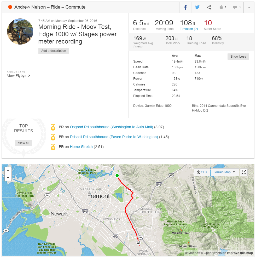 Cycling Health and Technology Blog: Moov Activity Tracker : Outdoor