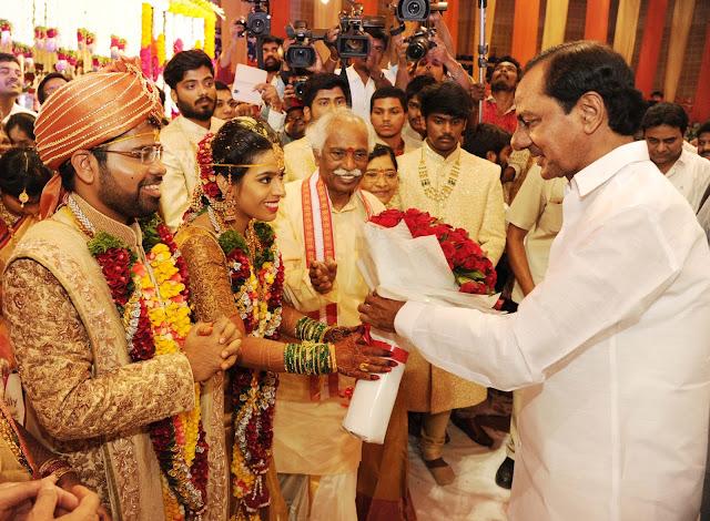 CM KCR at Bandaru Dattatreya daughter Wedding