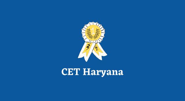CET Haryana Online Form