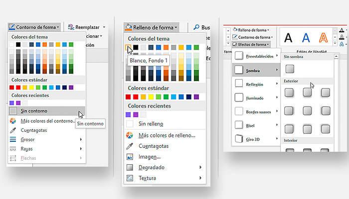 Aplicando estilo al nodo del mapa conceptual en PowerPoint