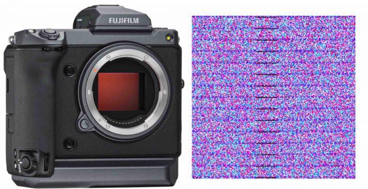 Схема проявления бандинга от фазовых датчиков на Fujifilm GFX 100