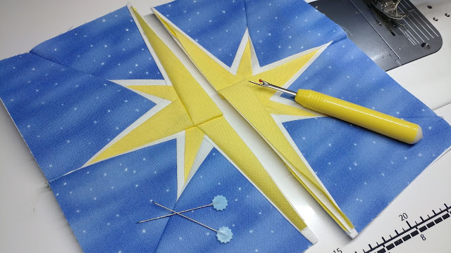Paper pieced Bethlehem star for Advent quilt