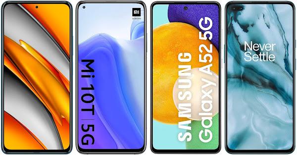 Xiaomi POCO F3 vs Xiaomi Mi 10T vs Samsung Galaxy A52 5G vs OnePlus Nord