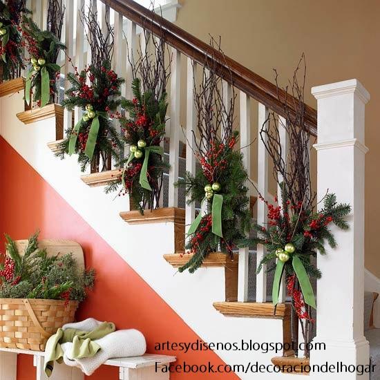 Como decorar escaleras para navidad decoraci n del hogar - Decorar escaleras interiores ...