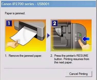 Indikator kertas paper jam pada printer canon - cara mengatasi memperbaiki printer