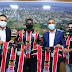 CAPITAL  Carlão e vereador Coringa recebem visita do  presidente do Esporte Clube Taveirópolis