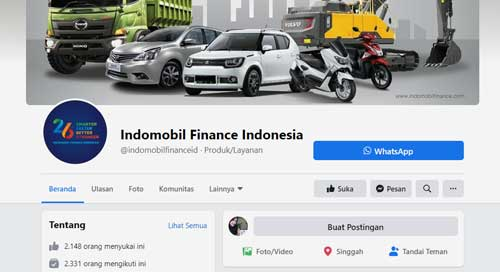 kontak facebook indomobil finance