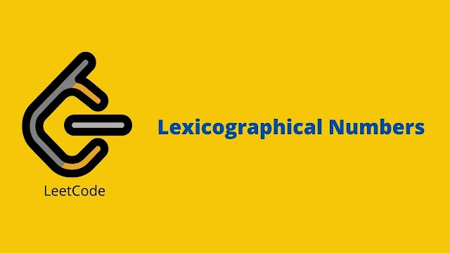 Leetcode Lexicographical Number problem solution