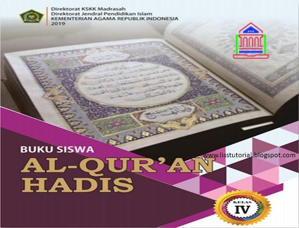 Download Buku Al-Qur'an Hadis Kelas 4 MI Kurikulum 2013 Edisi Revisi 2019