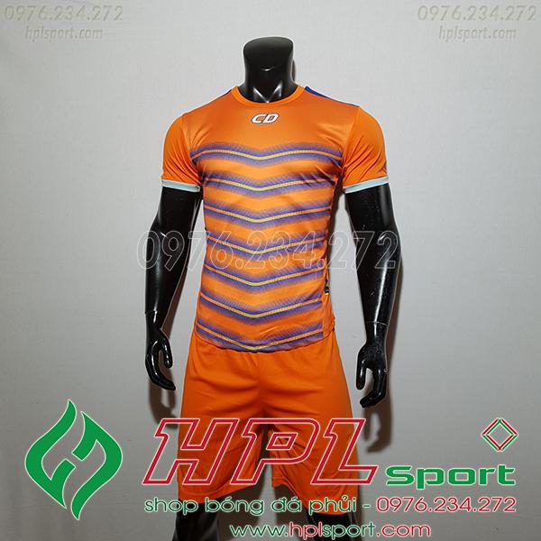 Áo ko logo T90 Leg màu cam