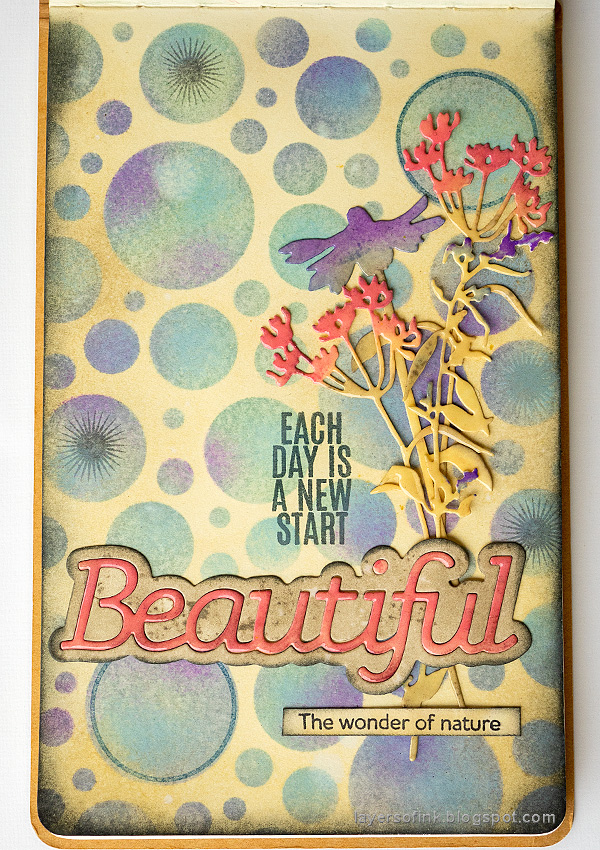Layers of ink - Stenciled Circle Background Art Journal Tutorial by Anna-Karin Evaldsson.