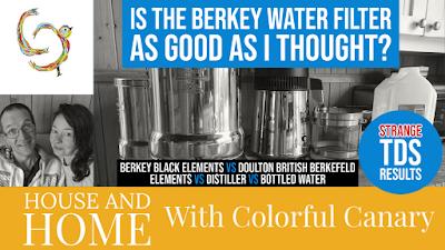 Berkey water filter testing