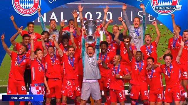لحظات تتويج بايرن ميونخ بدورى أبطال أوروبا 2020