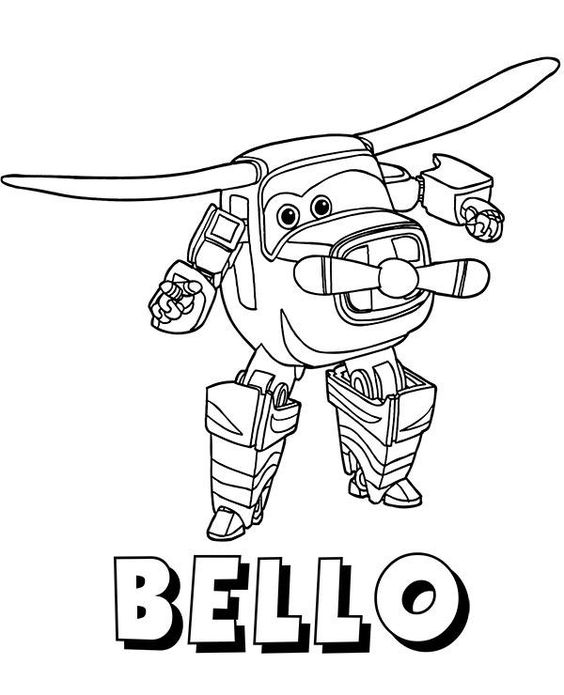 super wings coloring pages 6
