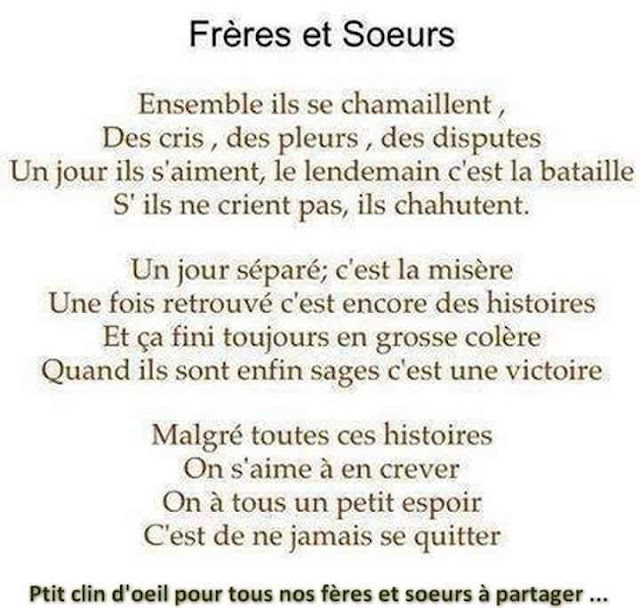 Poeme Familiale Mot Damour