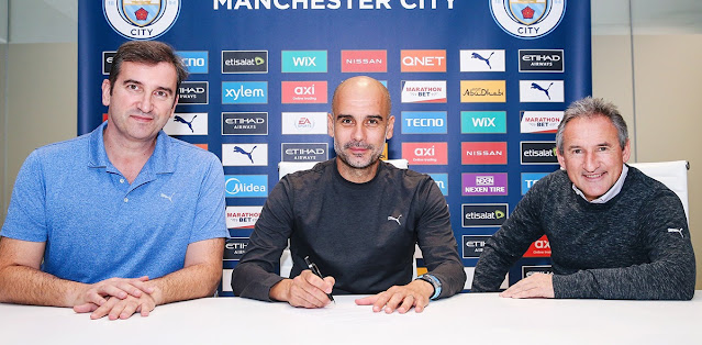 Pep Guardiola has signed a new two-year deal with Man City