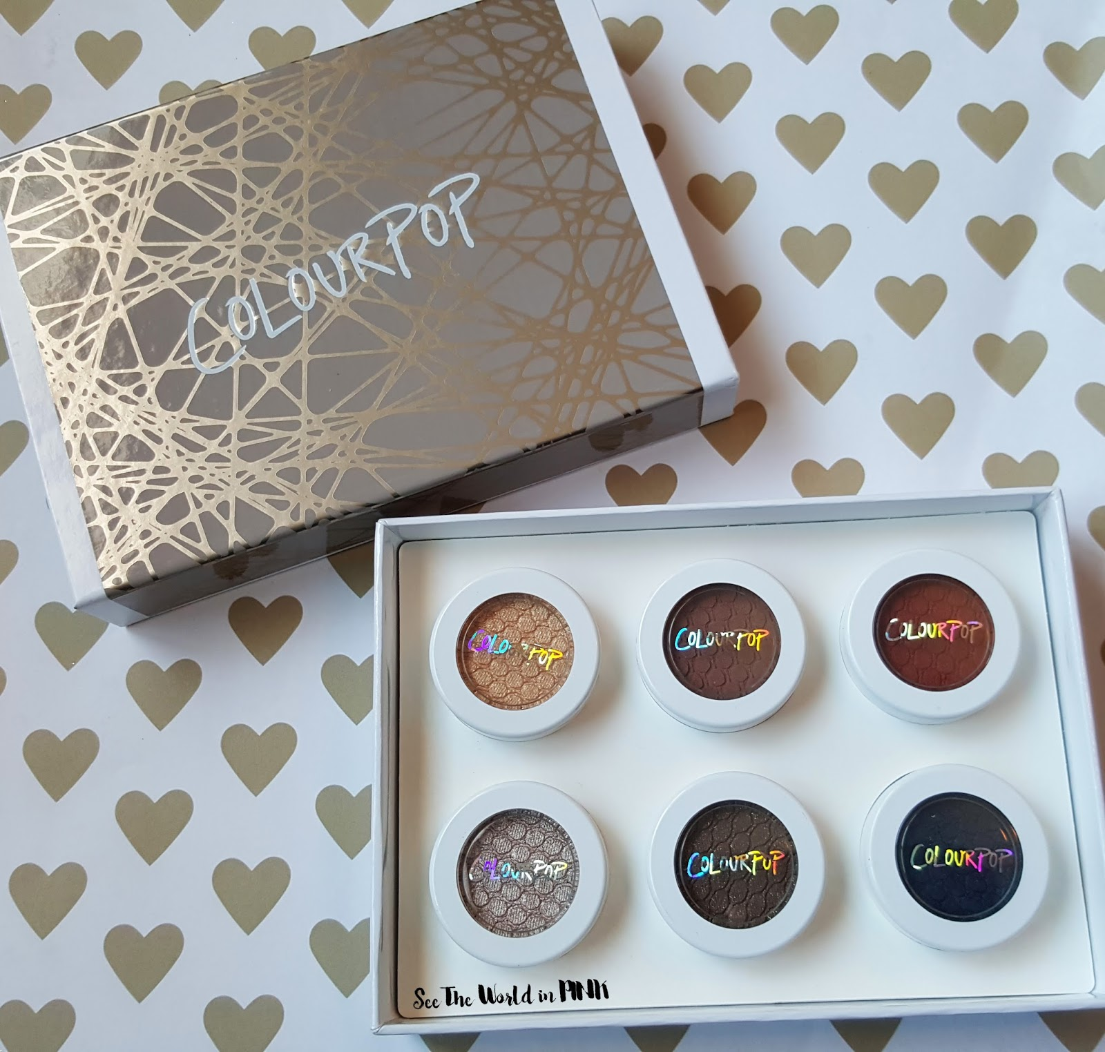 """ColourPop - """"Forever Freshman"""" Eyeshadow Set Review and Swatches"""