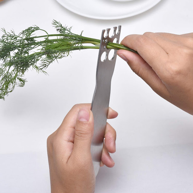 Herb Stripper: Stainless Steel Kale and Herb Stripping Tool