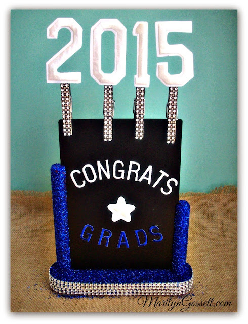 graduation party sign Joy letters numbers