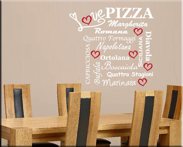 arredi murali - adesivi murali - quadri moderni: come arredare i ... - Arredamento Moderno Per Pizzerie