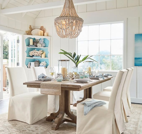 Pottery Barn Coastal Dining Room Design Idea