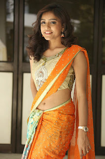 Actress Vithika Sheru Pictures in Saree at Paddanandi Premalo Mari Press Meet CelebsNext 7.JPG