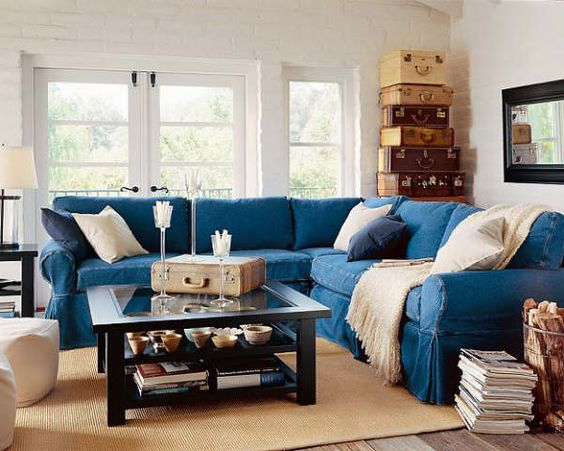 Ordinaire I Think Denim Is Such A Classic Textile That Will Never Go Out Of Style. Pottery  Barn