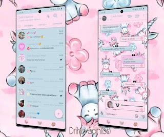 Unicorn Rosa Theme For YOWhatsApp & Fouad WhatsApp By Driih Santos
