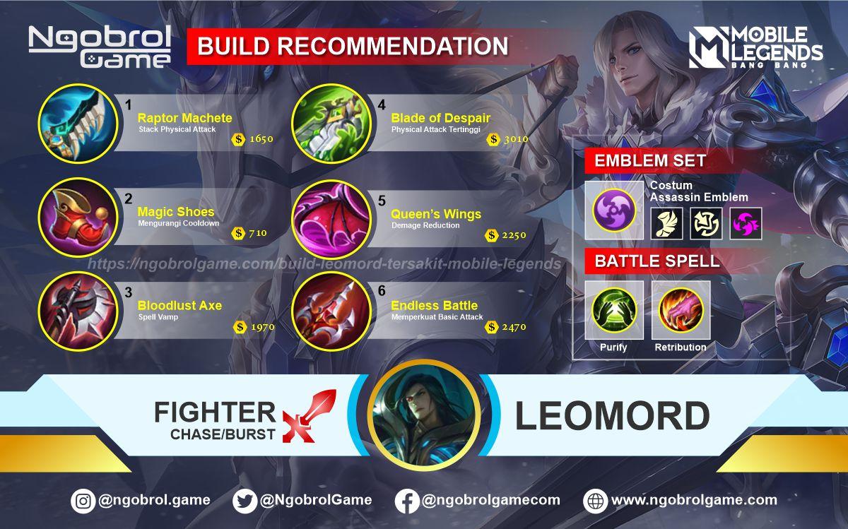Build Leomord Tersakit 2021 Mobile Legends