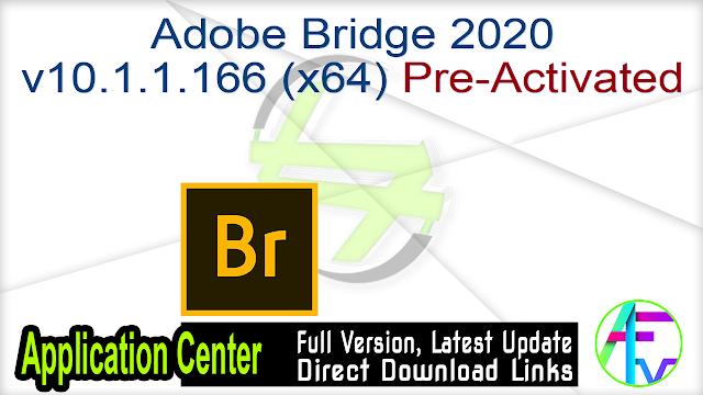 Adobe Bridge 2020 v10.1.1.166 (x64) Pre-Activated
