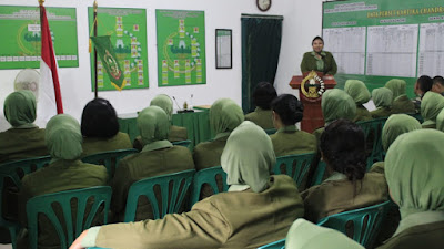Persit KCK Cabang XXVI  Kodim 0706/Temanggung Laksanakan Pertemuan Rutin Anggota