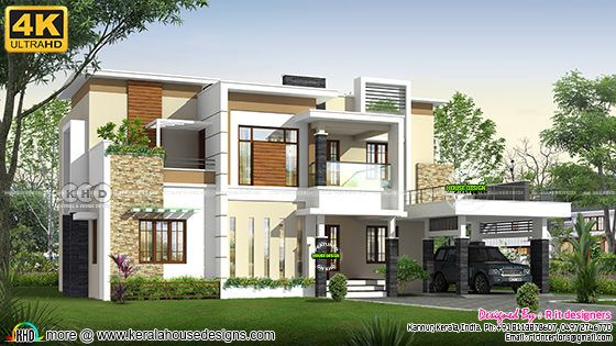 4 bedroom modern house rendering